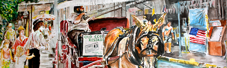 artist's rendering of New Orleans carriage